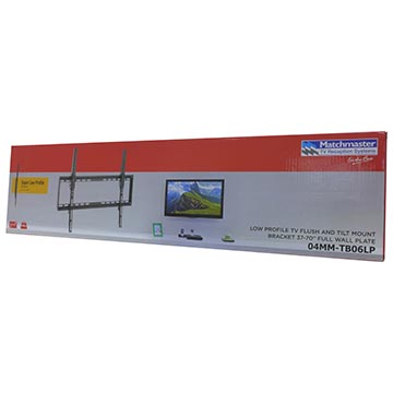 "04MM-TB06LP - Low Profile TV Flush and Tilt Mount Bracket 37-70"" Full Wall Plate Packaging Image"