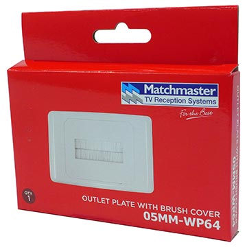 05MM-WP64 - Outlet Plate with Brush Cover Packaging Image