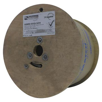 06MM-E6QLSZH - RG6 Quad Low Smoke Zero Halogen 305M Reel Packaging Image