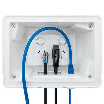 04MM-RP02 - Recessed Wall Point with Built in Cable Management System Application Image