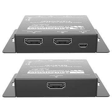 34MM-2K50 - HDMI Extender, 1x HDMI Loop Out, 1x Cat5e/6 50m Output with IR and PoC Back of Product Image