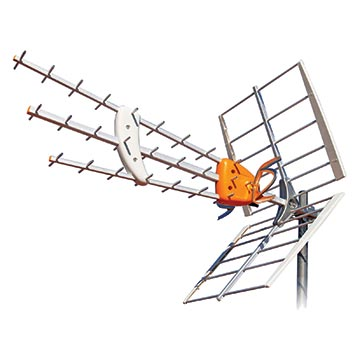 02MM-DAT45 - Antenna UHF with AGC  17dB Gain Passive + 14dB  GainWith Power (31dB Total)
