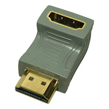 04MM-HDC01 - Right Angle HDMI® Male to Female Adaptor