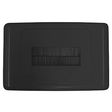 05MM-WP64B - Outlet Plate with Brush Cover (Black)