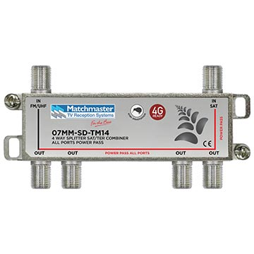 07MM-SD-TM14 - Satellite Terrestrial Diplexer 4 Way Splitter Combiner