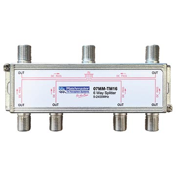 07MM-TM16 - 6 Way Splitter