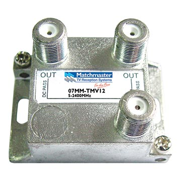 07MM-TMV12 - 2 Way Splitter 5-2400MHz