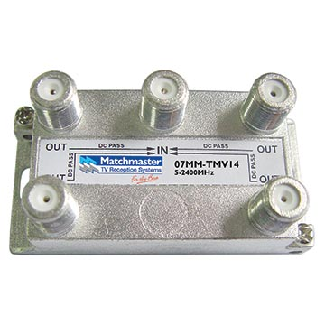 07MM-TMV14 - 4 Way Splitter 5-2400MHz