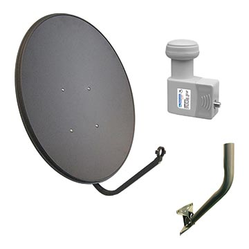 13MM-R65P-K4 - 65cm Satellite Dish with 10.75 LO LNB and SM01 Wall Mount