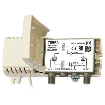 14MM-HSA001 - TERRA Amplifier SAT/TER 25/18dB Return Path 5-30