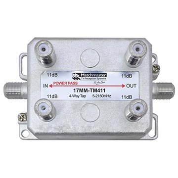 17MM-TM411 - 4 Way Vertical Tap 11dB