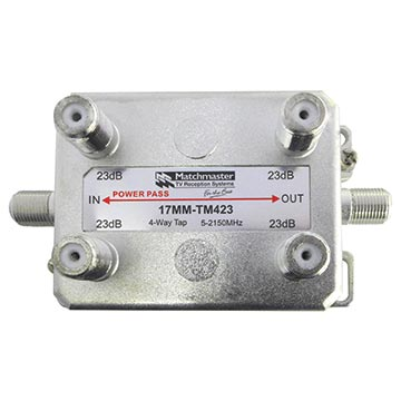 17MM-TM423 - 4 Way Vertical Tap 23dB