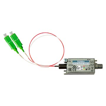 20MM-OD007H - Terra mini Fibre Receiver 70dBuV output with dual SC/APC connectors 47-2400MHZ with built in WDM