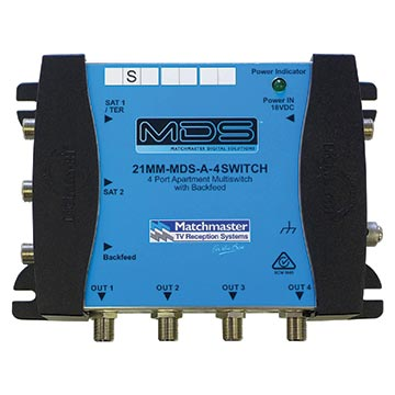 21MM-MDS-A-4SWITCH - 4-Way MDS Apartment Switch (Includes Power Supply)