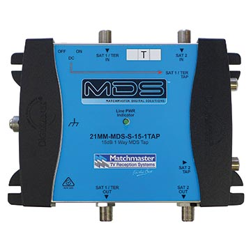 21MM-MDS-S-15-1TAP - 15dB 1-Way MDS Tap