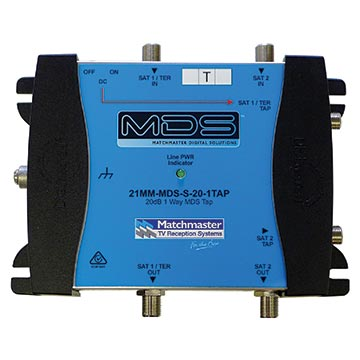 21MM-MDS-S-20-1TAP - 20dB 1-Way MDS Tap Supplied