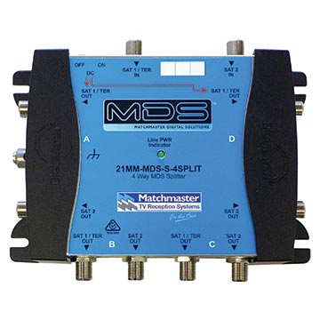 21MM-MDS-S-4SPLIT - 4-Way MDS Splitter
