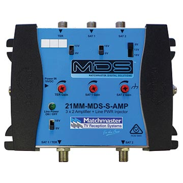 21MM-MDS-S-AMP - 3x2 MDS Amplifier, Wall Mount