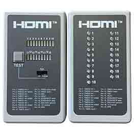 HDMI-TESTER3 - HDMI Cable Tester (Transmitter & Receiver) 19 LED Tester